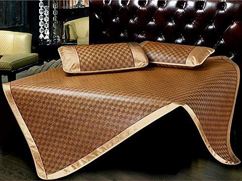 Huayer Comfort Matratze, Bettmatte, Sommerbett, Rattansitze, 2 oder 3 Sets von Einzelbett, Doppelfaltmatratze, Klimaanlage Matten (Größe: 1,5 m), 1.2m Bed - Queen 2 Memory-schaum