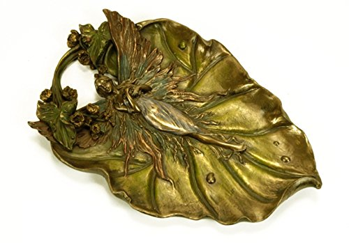 Lama con fata in bronzo e resina 25cm. di Veronese