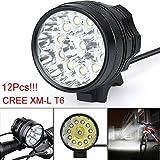 30000 Lm 3 Modi Fahrrad Lampe Fahrrad Licht Scheinwerfer Radfahren Taschenlampe kann als Scheinwerfer oder Fahrrad Licht mit Batterie Überladungsschutz verwendet werden