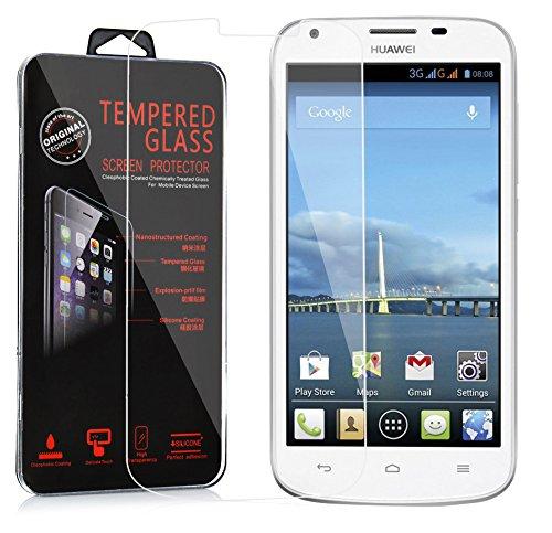 Cadorabo DE-106022 Huawei Ascend Y600 Gehärtetes (Tempered) Bildschirm-Schutzglas in 9H Härte mit 3D Touch Glas Kompatibilität Transparent