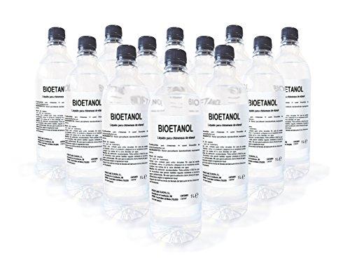 Caja 12 Botellas de 1 litro de Bioetanol F
