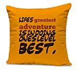 TiedRibbons Inspiring quotes printed cushion | inspirational cushion cover | inspirational cushion covers | cushion quotes | Christmas gifts for girlfriend, brother , sister Printed Cushion(12 inch X 12 inch, with Filler)