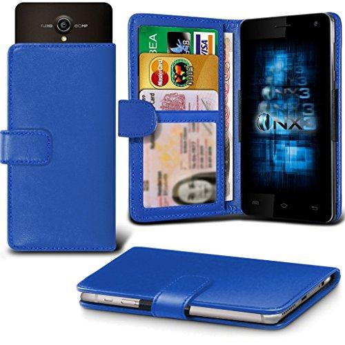 (Blue) Allview P5 Energy Hülle Abdeckung Cover Case schutzhülle Tasche Verstellbarer Feder Mappe Identifikation-Kartenhalter-Kasten-Abdeckung ONX3