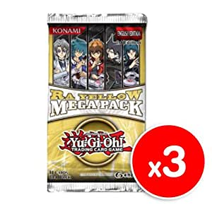 Yu-Gi-Oh! Ra Yellow Mega Pack Booster x 3 (1st Edition)