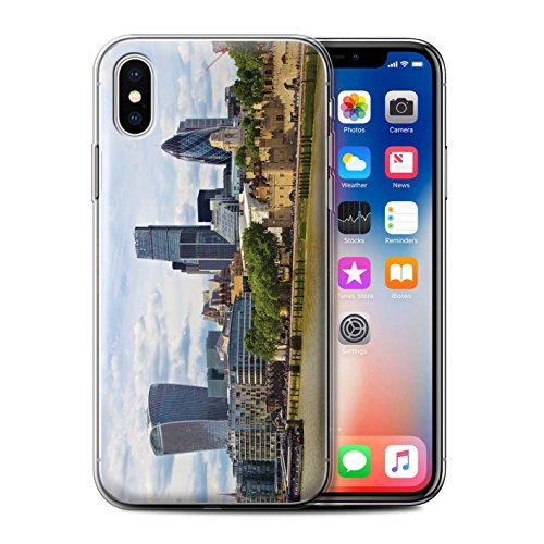 Stuff4 Gel TPU Hülle / Case für Apple iPhone X/10 / City of London Muster / Seiten London Kollektion City of London