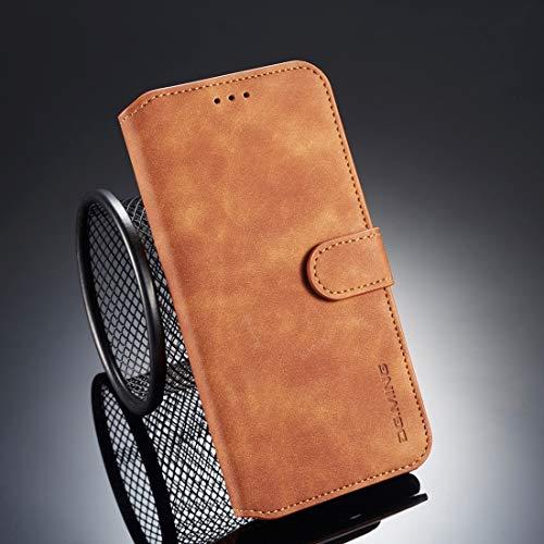 Halter & Kartensteckplätze & Brieftasche, Retro Oil Slope Horizontal Throw Case für iPhone XS max (Color : Braun) -