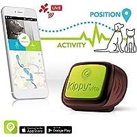 KIPPY Vita - Rastreador GPS de mascotas para perros y gatos, Marron, talla única