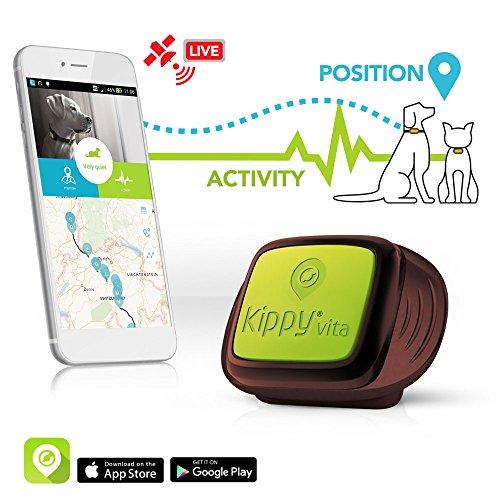 Gps Tracker pour Chiens et Chats par Kippy | Surveillance d'Activité pour Chien, Chats et Autres | Attachez Simplement au...