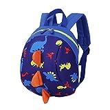 Kinderrucksack Animal Schule Tasche Rucksack, Ulanda Mini Rucksack, Motiv Dinosaurier Rucksack for Kinder Baby Jungen Mädchen Kleinkind 2-6 Alter (Dunkelblau)