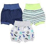TupTam Baby Shorts Jungen Kurze Pumphose Mädchen Kinder Sommershorts 100% Baumwolle im 3er Pack, Farbe: Junge, Größe: 68-74