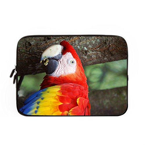 hugpillows Laptop Hülle/Tasche Exotic Sittiche Colorful Notebook Sleeve Cases mit Reißverschluss für MacBook Air 13 zoll (Ny Built 17 Laptop-tasche)