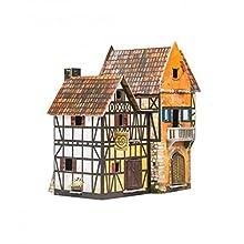 Keranova keranova243 16 x 10 x 17 cm Clever Papier Ville médiévale Bakery Puzzle 3D