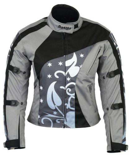 B-07 Bangla Damen Motorradjacke Textil Tourenjacke Grau gemustert XXXL