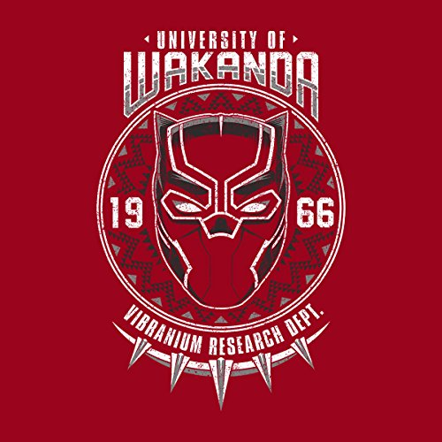 University Of Wakanda Black Panther Women's Hooded Sweatshirt Cherry Red