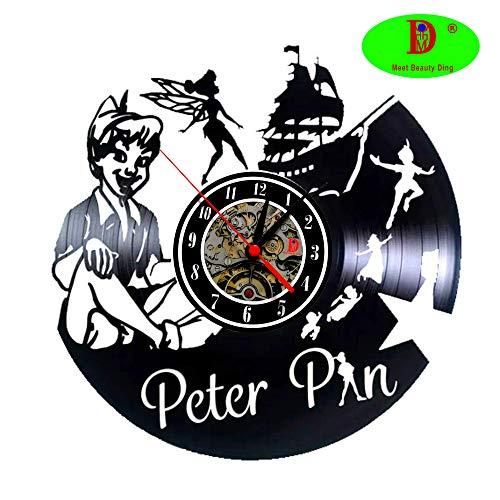 Main Original Bricolage Occasion Vinyle Walt Pour En Meet Murale De Disney Motif Beauty Pan Cartoons Cadeau Vintage Fait Jeune Horloge Peter thQdxsrC