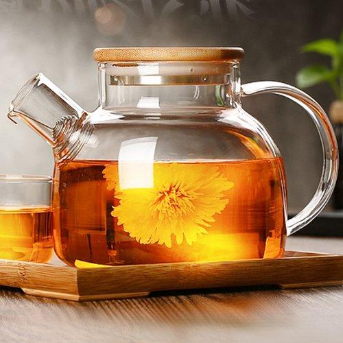 cosy-ycy hochwertiges Borosilikatglas Teekanne Kaffeekanne mit hitzebeständiges Glas-Ei Teekanne...