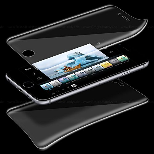 Vorderseite und Rückseite Screen Protector 360 Full Cover Schutz Folie für iPhone 7 Plus Display Schutzfolie Displayfolie Transparent (Lcd Display Screen Cover)