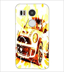 PrintDhaba Car D-3886 Back Case Cover for LG NEXUS 5X (Multi-Coloured)