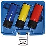BGS 7300 Kraft-Schoneinsatz-Set, 12,5 (1/2) 17, 19 und 21 mm