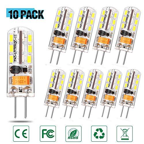 C&c-star (C-star G4 LED Lampen 2W 150LM warmweiß Umweltfreundliche Lampe Ersatz für 20W Halogenlampen Kaltweiß, 360° Abstrahlwinkel, AC220-240V - 10er Pack [Energieklasse A+] (Weißes Licht -10 Pack))