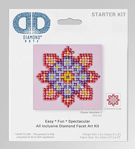 Diamond Dot DD2.023 multicolore Pinguino natalizio in tessuto 13,5 x 13,5 x 1 cm