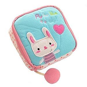 Cute Cartoon Sanitary Napkin Towel Pads Small Bag Holder Organizer (Blue)