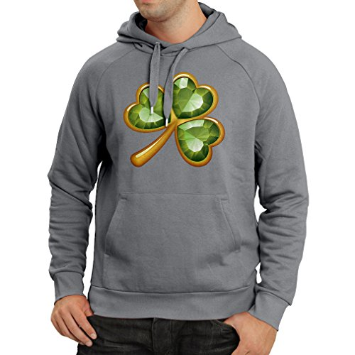 Kapuzenpullover Irish shamrock St Patricks day clothing (X-Large Graphit (Irish Kostüm Jig)