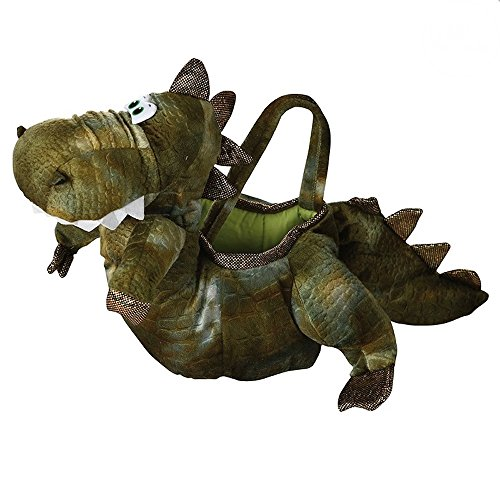 (shoperama T-Rex Dinosaurier Handtasche aus Plüsch Tasche Dino Helkeltasche Kinder Mädchen)