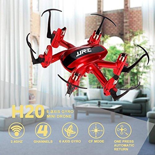 JJRC H20 RC Drone Quadrocopter 2.4GHz mit 4 Kanal, 6 Achsen Gyro, 3D-Flip,kopflos - modus (Rot) - 5