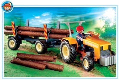 Playmobil - Tractor con transporte de madera a largo (4209)