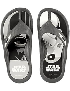 Star Wars Flip Flop Zehentreter mit tollem Darth Vader und Stormtrooper Black & Withe - Motiv