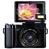 Video Camera Digital Camera Vlogging Camera Full HD1080p 24.0MP Camcorder 3.0 Inch Flip Screen Camera with Retractable Flashlight