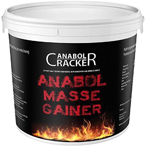 Anabol Masse Gainer, Whey Protein Shake, 1000g Eimer, Schoko-Karamell, Vanille oder Erdbeer Geschmack, Eiweißpulver Aminosäuren (Schoko-Karamell)