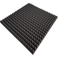 50x Plaques de mousse acoustique–env. 100x 100x 3cm, anthracite noir, FSE (ignifugé après mvss302) env. 50m²