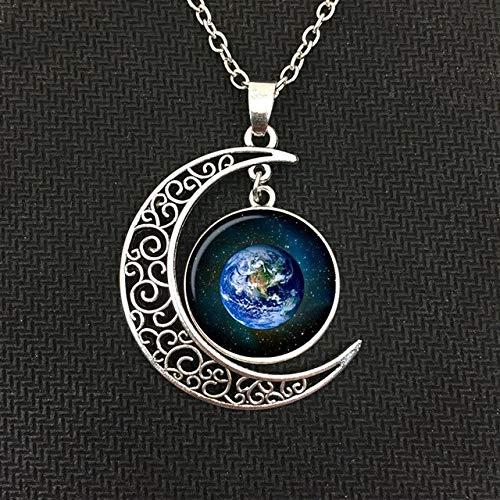 Kostüm Neptun Planet - DADATU Halsketten für Herren Geld Charme Planet Mars Jupiter Neptun Merkur Mond Anhänger Halskette Schmuck, Männer Und Frauen Halskette.