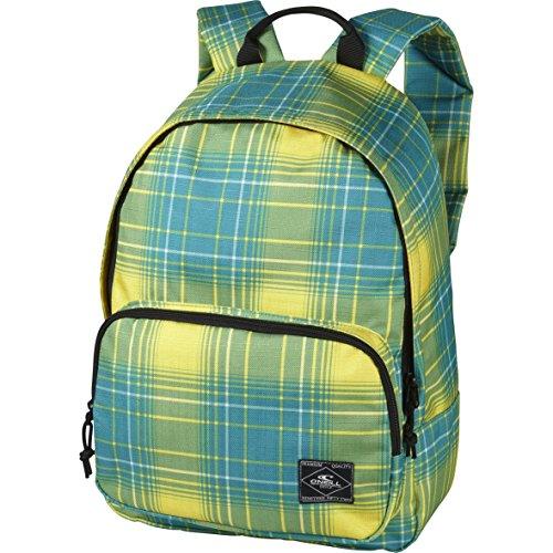 O' Neill AC Coastline Backpack-Zaino, colore: giallo con Quadretti Verdi