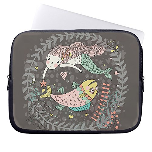 whiangfsoo-beautiful-little-mermaid-swimming-with-big-fish-neoprene-sleeve-case-bag-pouch-carrying-h