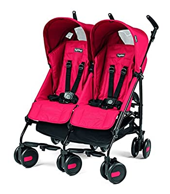 Peg Perego Pliko Mini Twin Baby Stroller, Mod Red by Peg Perego