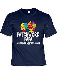 zum Vatertag T-Shirt Tochter Vater Geschenke Idee PATCHWORK PAPA GEMEINSAM SIND WIR STARK Vatertagsgeschenk Papa Geburtstagsgeschenk Stiefvater klassischer Schnitt zum Geburtstag : )