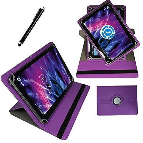 360° 7 Zoll LILA Tablet Tasche Schutz Hülle Etui für Archos 70b Copper
