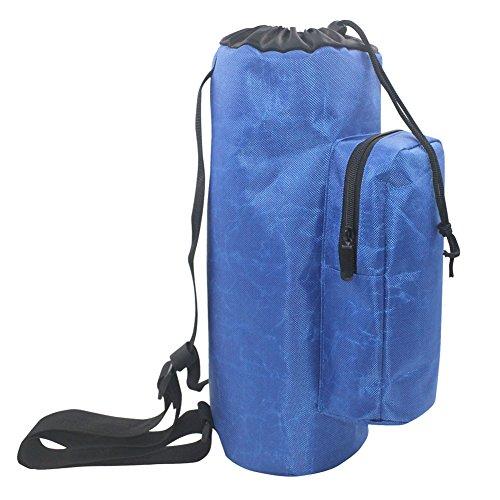 Oxygen HGJ74 - Mochila cilíndrica para depósito de oxígeno, impermeable, 1680D, con bolsillos laterales y hombros ajustables, color azul