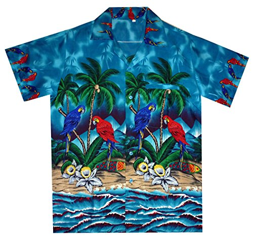 Funky Chemise Hawaienne XS-12XL Turquoise