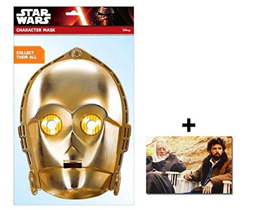C-3PO Official Star Wars Single Karte Partei Gesichtsmasken (Maske) Enthält 6X4 (15X10Cm) starfoto