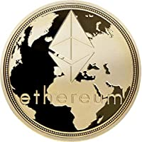 ethereum, Brass with gold Plating, acabado: Polished Plate, 40 x 3 mm, en acryllic Cup,
