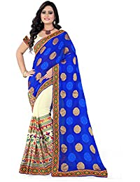 Riva Enterprise Women's Georgette Embroidred Work Saree With Blouse Piece (Riva_116)