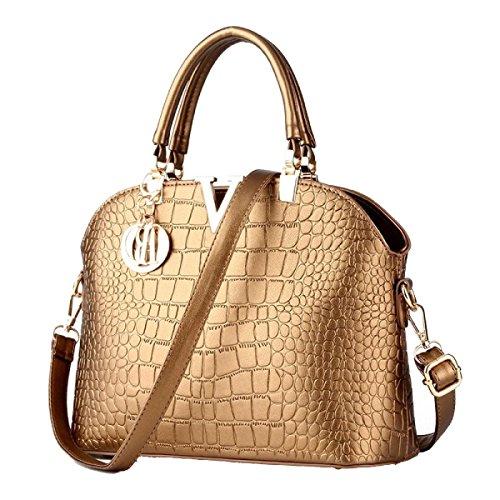 Di Modo Delle Signore Di Grande Capienza Messenger Bag Multi-color Gold