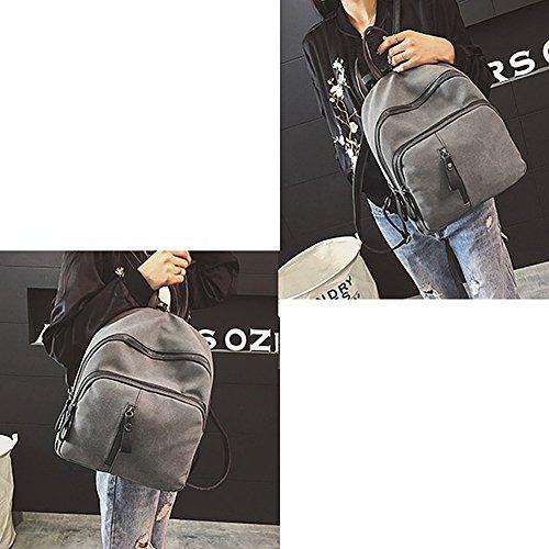 Remeehi, Borsa a zainetto donna, Grey (grigio) - JXQ01936-1 Grey