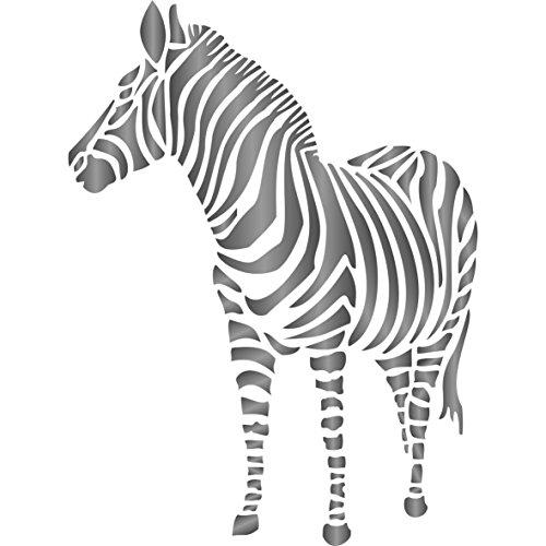 Zebra Schablone-wiederverwendbar African Animal Wildlife Schablonen für Malerei-zur Verwendung auf Papier Projekte Scrapbook Tagebuch Wände Böden Stoff Möbel Glas Holz usw. m