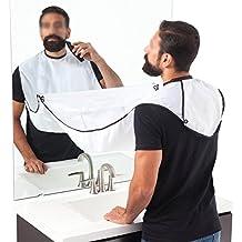 Yoofor Barba Delantal coleccionar. Toalla Bib para Afeitados limpio y cuidado Barba, buena regalo pelo recogida para hombres