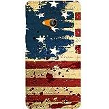 Casotec USA Flag Design Hard Back Case Cover for Microsoft Lumia 535